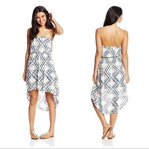 O'Neill Juniors Jean Print High Low Dress S